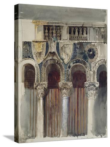 Study of the Marble Inlaying on the Front of the Casa Loredan, Venice, September - October 1845-John Ruskin-Stretched Canvas Print
