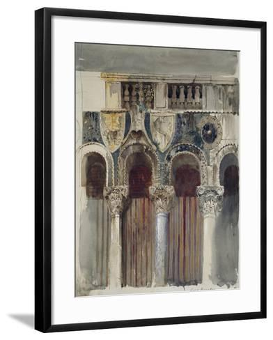 Study of the Marble Inlaying on the Front of the Casa Loredan, Venice, September - October 1845-John Ruskin-Framed Art Print