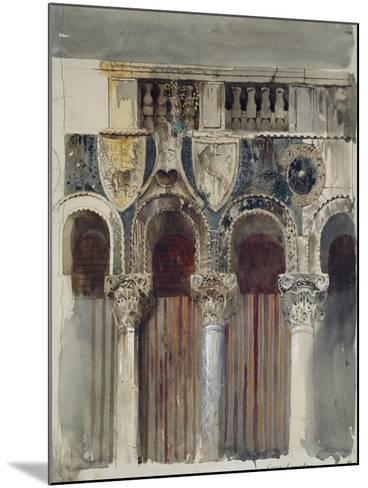 Study of the Marble Inlaying on the Front of the Casa Loredan, Venice, September - October 1845-John Ruskin-Mounted Giclee Print