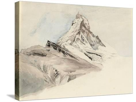 The Matterhorn, Switzerland, from the Northeast, 1849-John Ruskin-Stretched Canvas Print