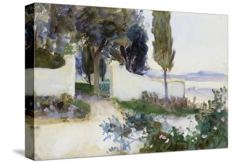 Gates of a Villa in Italy-John Singer Sargent-Stretched Canvas Print
