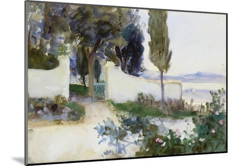 Gates of a Villa in Italy-John Singer Sargent-Mounted Giclee Print
