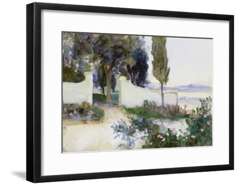 Gates of a Villa in Italy-John Singer Sargent-Framed Art Print