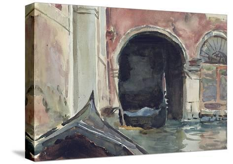 Venetian Canal-John Singer Sargent-Stretched Canvas Print