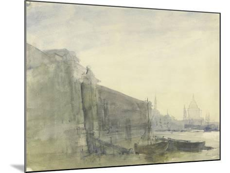 The Thames, Early Morning, Toward St. Paul'S, C.1849 (W/C with Graphite on Paper)-John William Inchbold-Mounted Giclee Print