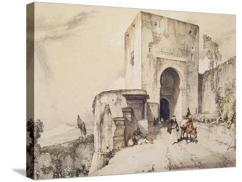 Gate of Justice (Puerta De Justitia), from 'Sketches and Drawings of the Alhambra', 1835-John Frederick Lewis-Stretched Canvas Print