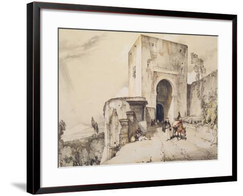 Gate of Justice (Puerta De Justitia), from 'Sketches and Drawings of the Alhambra', 1835-John Frederick Lewis-Framed Art Print
