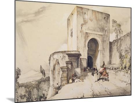 Gate of Justice (Puerta De Justitia), from 'Sketches and Drawings of the Alhambra', 1835-John Frederick Lewis-Mounted Giclee Print
