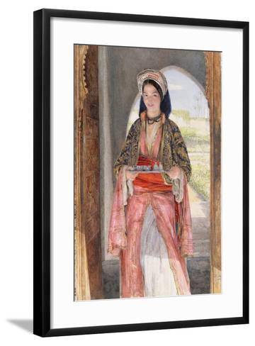 An Eastern Girl Carrying a Tray, 1859-John Frederick Lewis-Framed Art Print