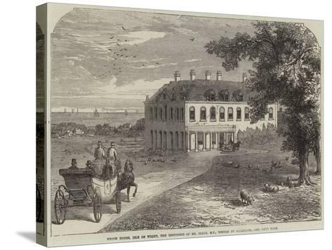 Brook House, Isle of Wight, the Residence of Mr Seely, Mp, Visited by Garibaldi-John Jessop Hardwick-Stretched Canvas Print