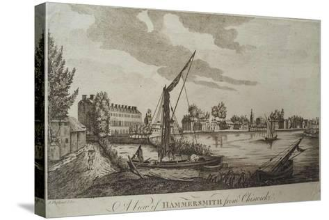 A View of Hammersmith from Chiswick, Engraved by John Royce (Fl.1764-90), C.1770-John Oliphant-Stretched Canvas Print