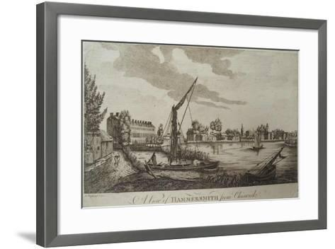 A View of Hammersmith from Chiswick, Engraved by John Royce (Fl.1764-90), C.1770-John Oliphant-Framed Art Print