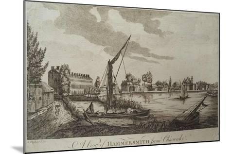 A View of Hammersmith from Chiswick, Engraved by John Royce (Fl.1764-90), C.1770-John Oliphant-Mounted Giclee Print