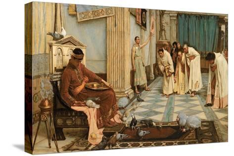 The Favourites of Emperor Honorius, C.1883-John William Waterhouse-Stretched Canvas Print