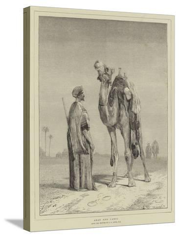 Arab and Camel-John Frederick Lewis-Stretched Canvas Print