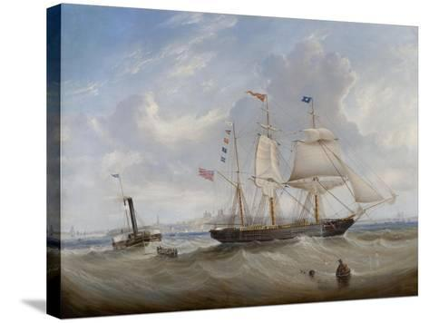 The Sailing Ship 'Anne' Leaving the River Tyne, 1859-John Scott-Stretched Canvas Print