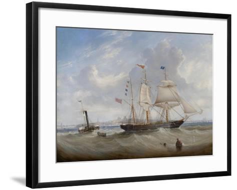 The Sailing Ship 'Anne' Leaving the River Tyne, 1859-John Scott-Framed Art Print