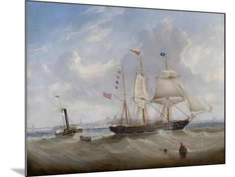 The Sailing Ship 'Anne' Leaving the River Tyne, 1859-John Scott-Mounted Giclee Print