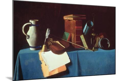 Tabletop with Violin-John Frederick Peto-Mounted Giclee Print