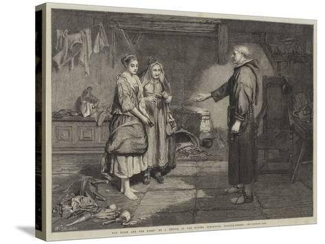 The Bible and the Monk-John Pettie-Stretched Canvas Print