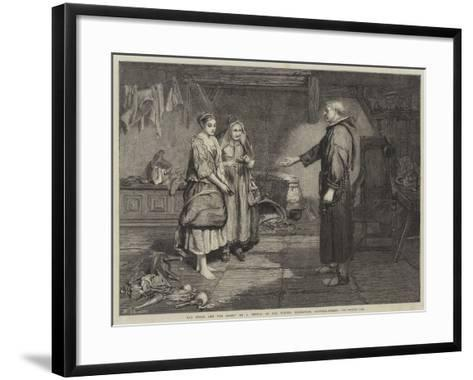 The Bible and the Monk-John Pettie-Framed Art Print