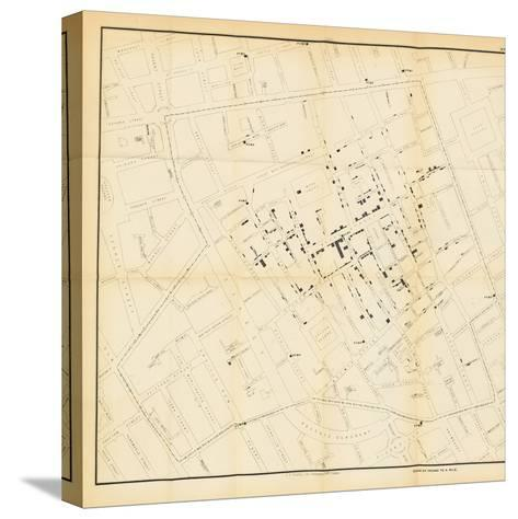 A Map from 'On the Mode of Communication of Cholera', 1855-John Snow-Stretched Canvas Print
