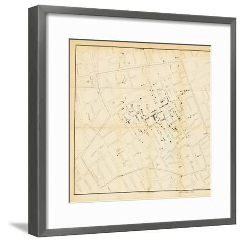 A Map from 'On the Mode of Communication of Cholera', 1855-John Snow-Framed Art Print