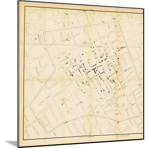 A Map from 'On the Mode of Communication of Cholera', 1855-John Snow-Mounted Giclee Print