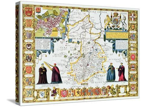 Cambridgeshire-John Speed-Stretched Canvas Print