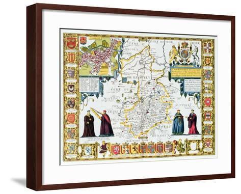 Cambridgeshire-John Speed-Framed Art Print