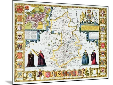 Cambridgeshire-John Speed-Mounted Giclee Print