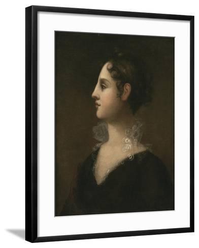 Theodosia Burr (Mrs. Joseph Alston, 1783-1813), 1802-John Vanderlyn-Framed Art Print