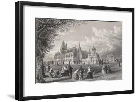 The University Museum: Oxford Almanack for 1860, 1860-John Le Keux-Framed Art Print