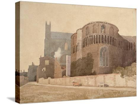 St. Luke's Chapel, Norwich Cathedral, 1808-John Sell Cotman-Stretched Canvas Print