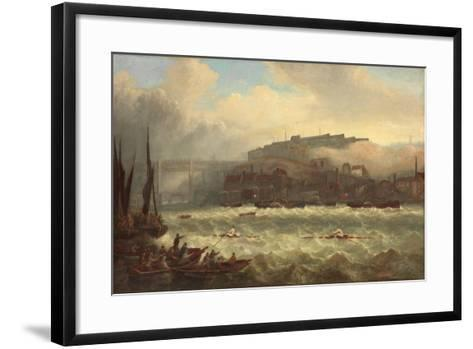 Cooper Versus Chambers, Race on the Tyne, 1865-John Warkup Swift-Framed Art Print