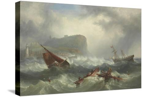 Wreck Off Scarborough, 1863-John Warkup Swift-Stretched Canvas Print