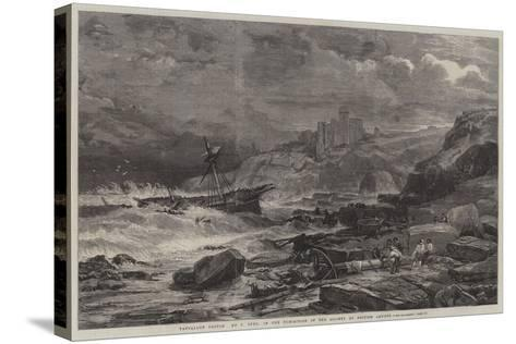 Tantallon Castle-John Syer-Stretched Canvas Print
