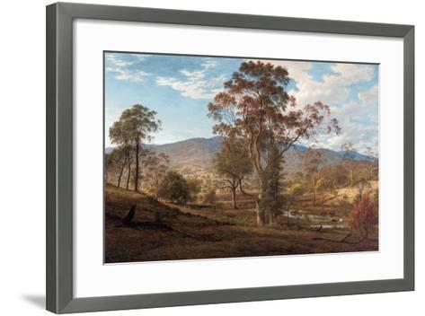 View of Mills Plains, Van Diemen's Land, 1833-John Glover-Framed Art Print