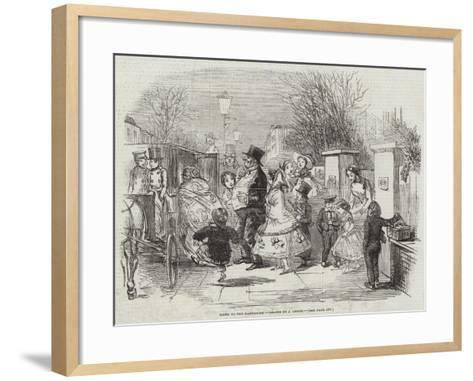 Going to the Pantomime-John Leech-Framed Art Print