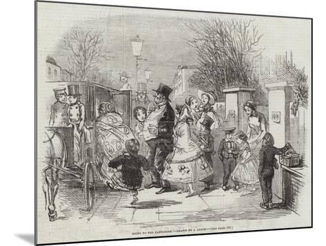 Going to the Pantomime-John Leech-Mounted Giclee Print