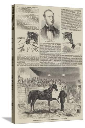 Mr J S Rarey, the American Horse-Tamer-John Leech-Stretched Canvas Print