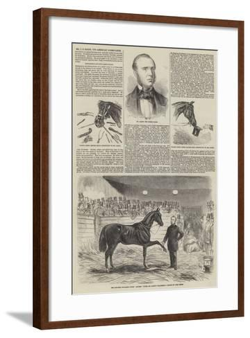 Mr J S Rarey, the American Horse-Tamer-John Leech-Framed Art Print
