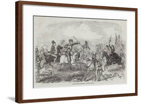 Pony-Races on Blackheath-John Leech-Framed Art Print