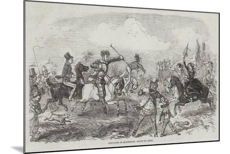 Pony-Races on Blackheath-John Leech-Mounted Giclee Print