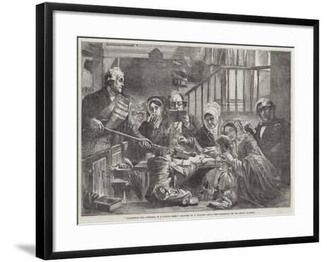 Collecting the Offering in a Scotch Kirk-John Phillip-Framed Art Print