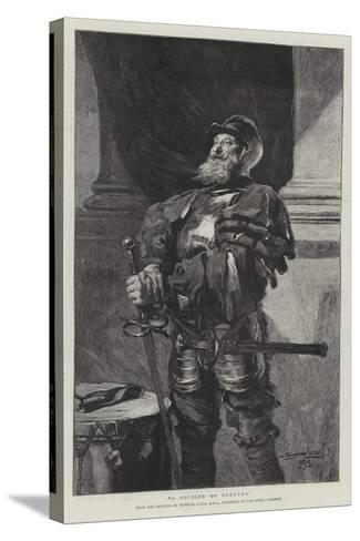 A Soldier of Fortune-John Seymour Lucas-Stretched Canvas Print