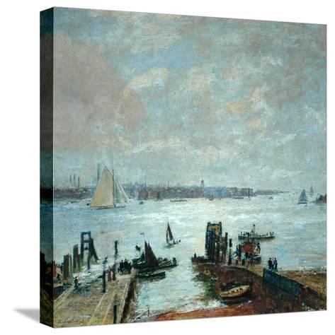 Portsmouth Harbour, 1907-John William Buxton Knight-Stretched Canvas Print