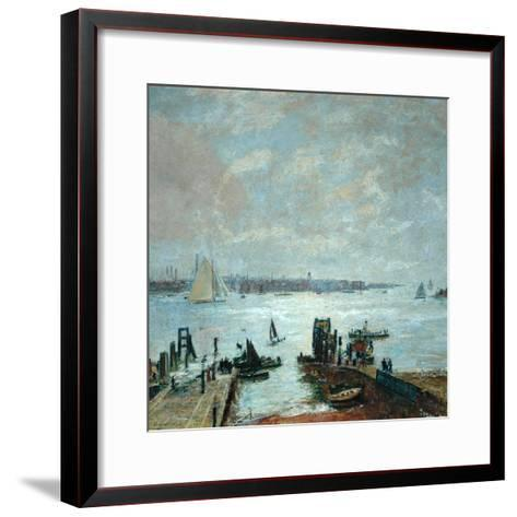 Portsmouth Harbour, 1907-John William Buxton Knight-Framed Art Print