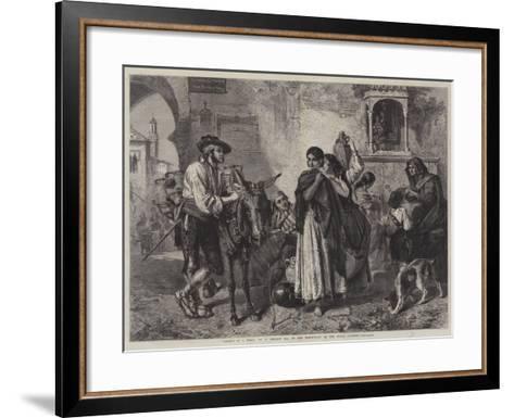 Gossips at a Well-John Phillip-Framed Art Print
