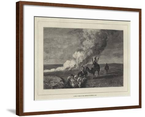 A Dust Storm on the Steppes of Central Asia-John Quartley-Framed Art Print